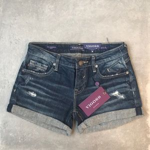 Vigoss cuffed jean shorts
